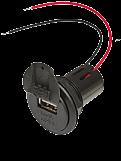 Power USB Einbausteckdose 12-24 V DC mit Deckel 3 V