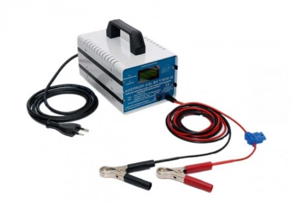 Professional charger XXL 10 A 12 V with crocodile clips