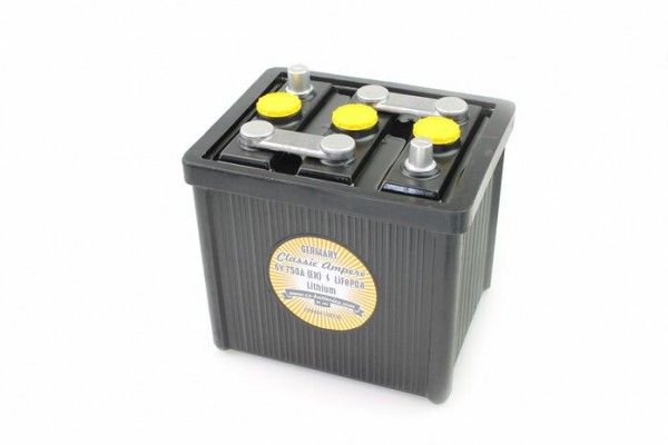 Classic LiFePo4 Oldtimer Lithium Starter Batterie 6V / 750A (EN) L215 x B170 x H220mm PORSCHE 356-Co