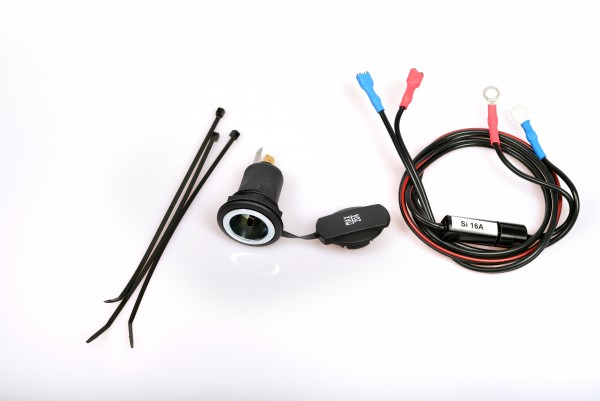Add-on kit with car cigarette lighter