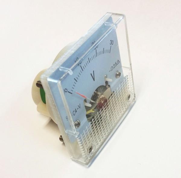 Analoges Einbau-Voltmeter DC 0-30 V