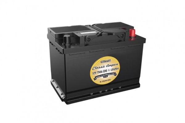 Classic LiFePO4 Oldtimer Lithium Batterie 12V / 1000A (EN) L279 x B175 x H189mm ~5,9kg-/ EQ-Gel 120A