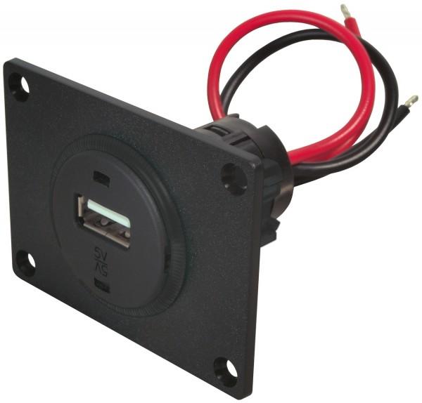 USB-Einbausteckdose mit Montageplatte