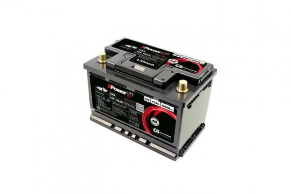 Lithium LiFePO4 Auto Batterie 12V / 40Ah BMS -1000A(EN) Peak 279 x 175 x 189mm ~5,5kg-/ Pb-eq 120AH