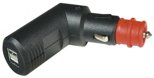 Winkelbarer Doppel-USB Ladestecker 12 V - 24 V