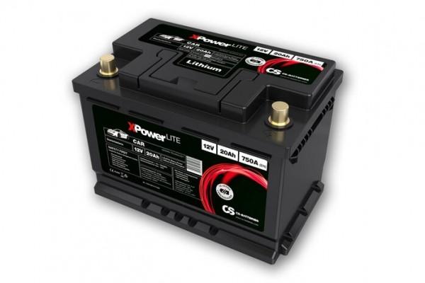Lithium LiFePO4 Auto Starter Batterie 12V / 20Ah 750A(EN)