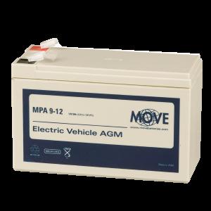 Bleibatterie, AGM, 12 V / 9 Ah, Ersatzakku für fritec Ladebox